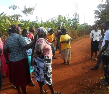 Consultation with women group in Nyeri who are going to benefit from the WSTF water project