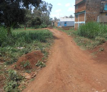 Section of road in Muranga that water pipeline is to pass through